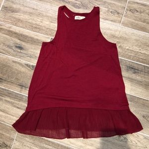 Red Hollister tank top